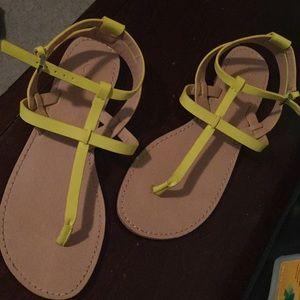 Loft neon yellow sandals